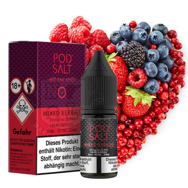 Mixed Berries | Liquid | Pod Salt