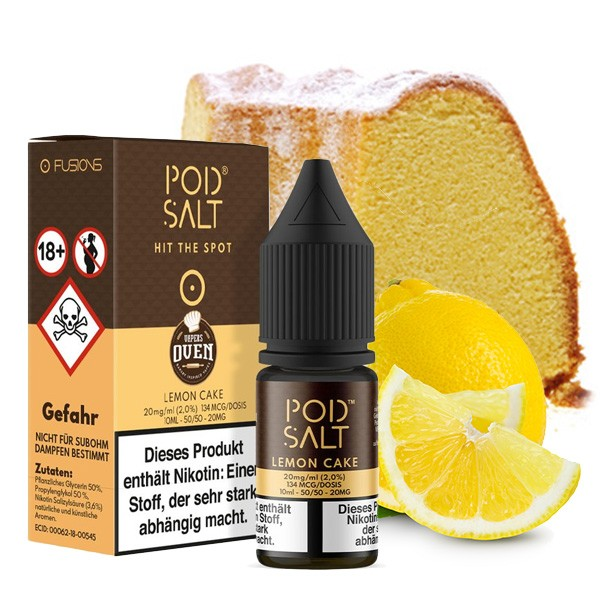 Lemon Cake | Liquid | Pod Salt